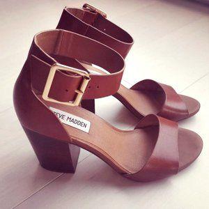 Steve Madden Leather Estoria block heels sandals